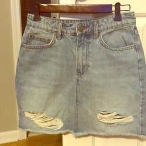 Billabong Distressed Denim Skirt